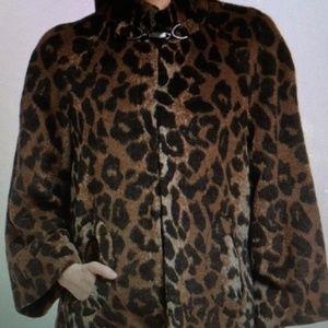 Betsey Johnson Size Medium Leopard  Print Coat